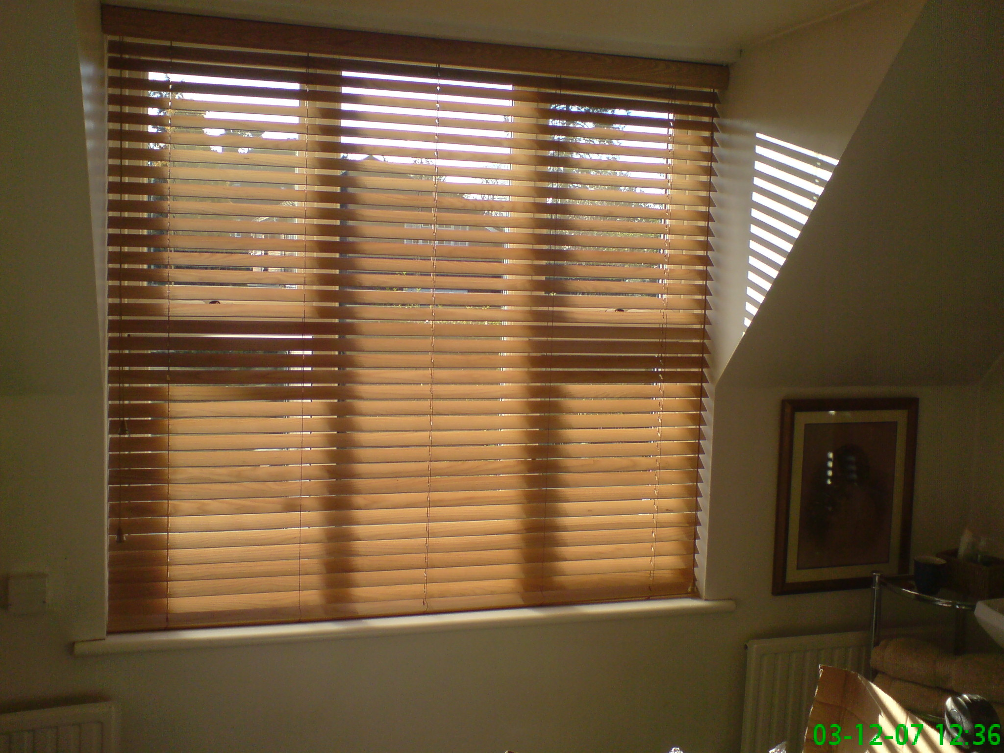Wood Slat Blinds And Window Films